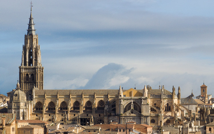 Toledo Cathedral from the viewpoint